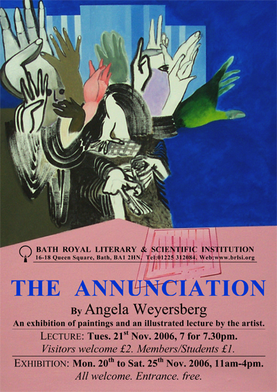 [Image: The Annunciation exhibition poster]
